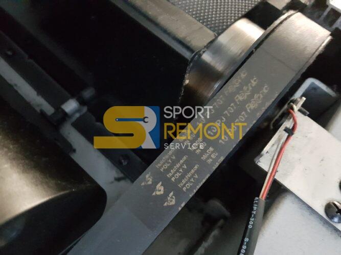 Замена ремня беговой дорожки, замена подшипников электродвигателя беговой дорожки Aerofit 9900t.<br /> Тренажерный зал