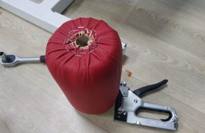 Замена обивки мягких частей тренажеров